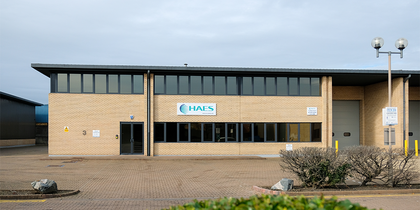 Image of the outside of the Haes Technologies office building