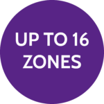 Up to 16 zones