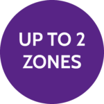 Up to 2 zones