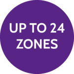 Up to 24 zones