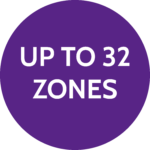 Up to 32 zones