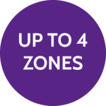 Up to 4 zones