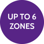 Up to 6 zones