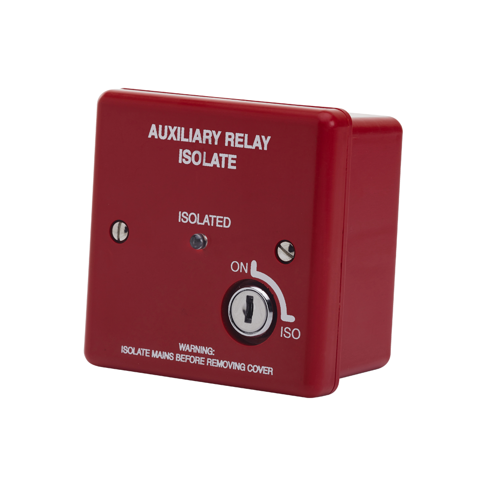 Image of Red Boxed Auxiliary Relay with Isolate
