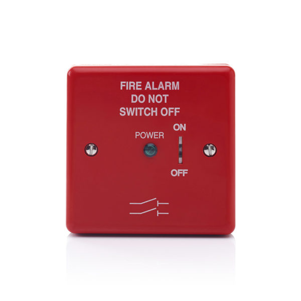 Image of Red Fire Alarm Mains Isolate Switch