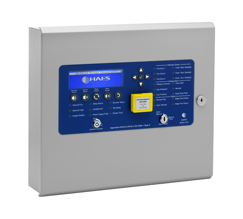 Image of Haes Technologies Extinguishant Release Control Panel