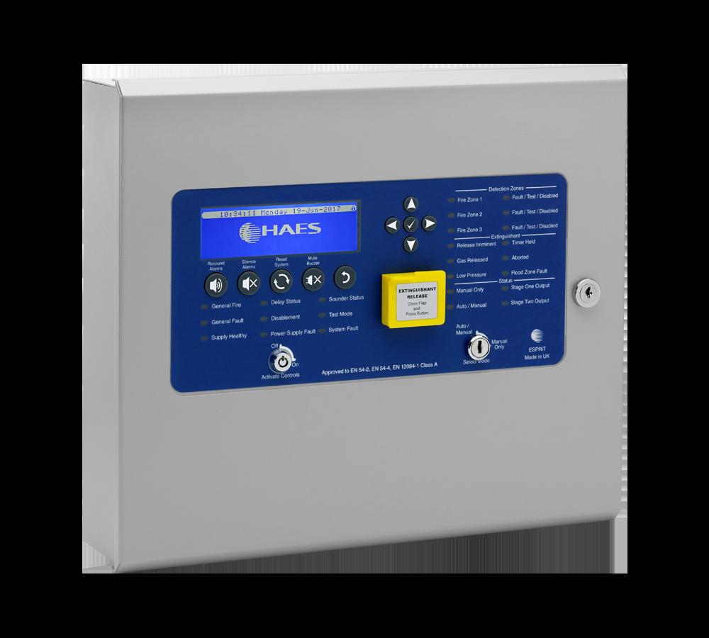 Image of Haes Technologies Extinguishant Release Control Panel
